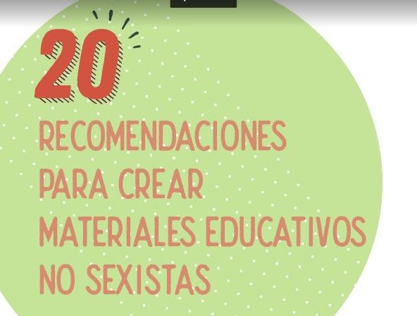 Infografía con recomendaciones para la producción de contenidos no sexistas