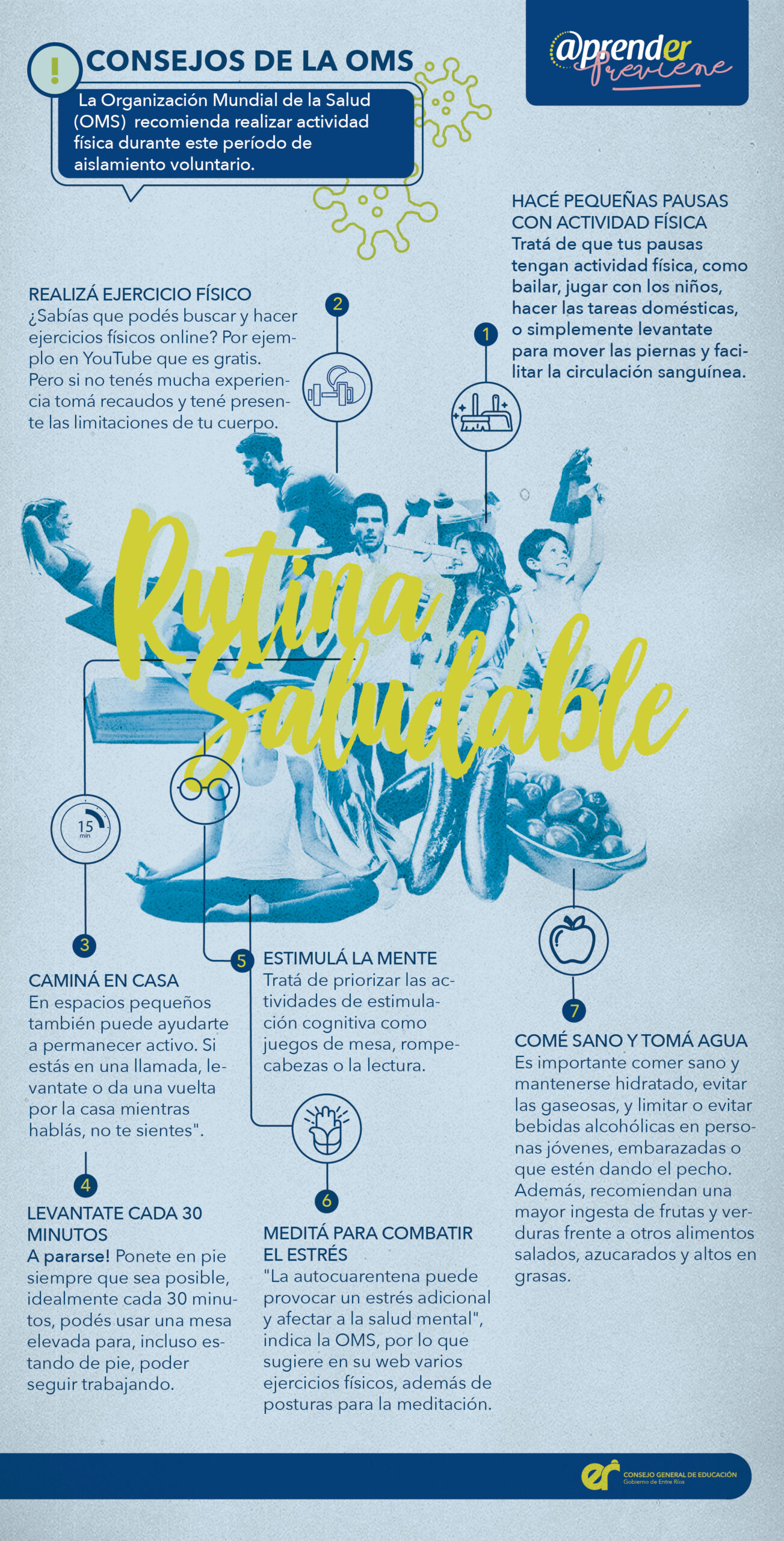 Infografía rutina saludable