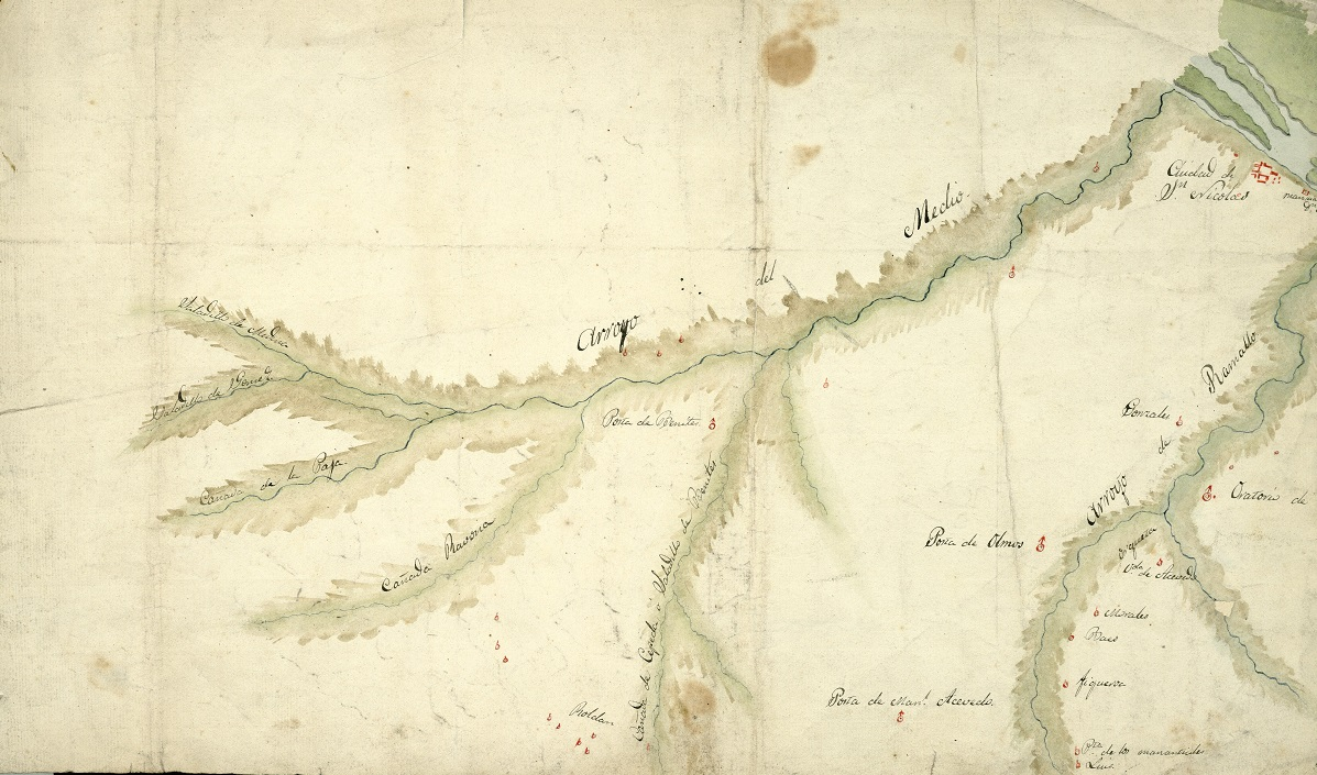 Mapa, batalla de Cepeda 1820